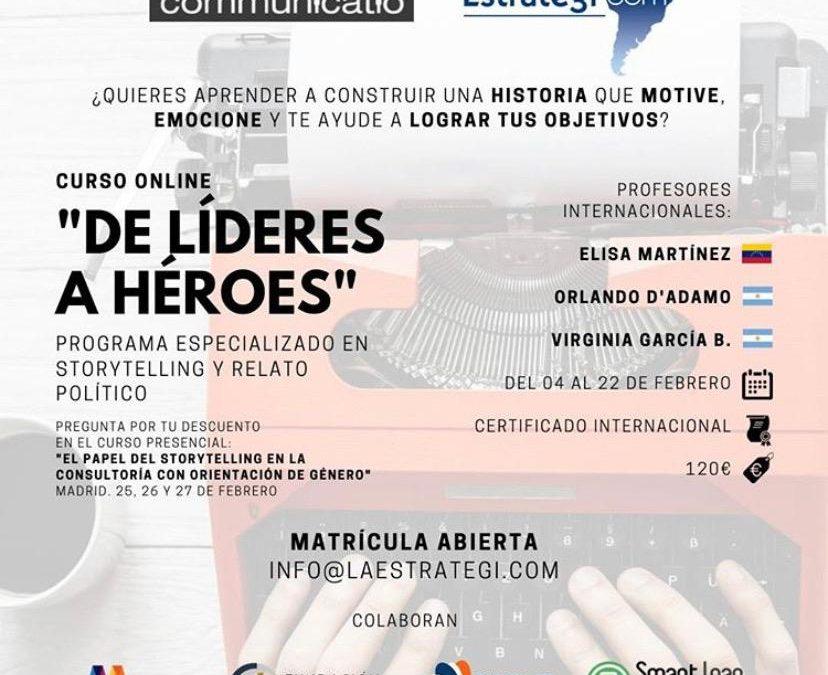 Formación. Curso online: Storytelling y Relato Político