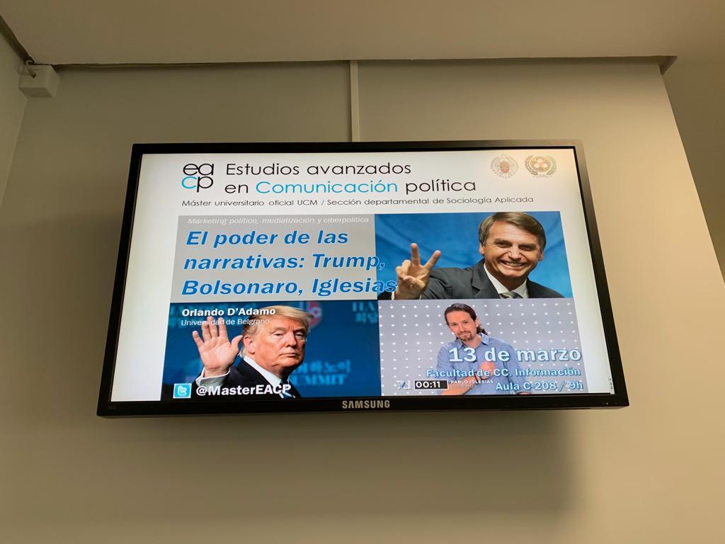 En Madrid, clase en el Master en Estudios Avanzados6