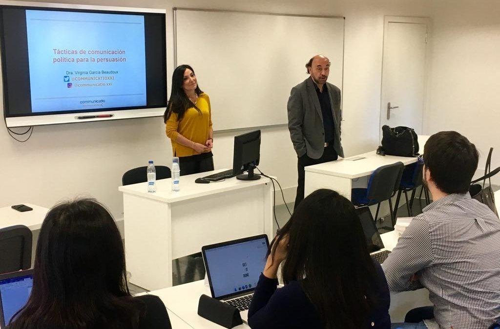 Master en Asesoramiento de Imagen y Consultoría Política. Madrid.