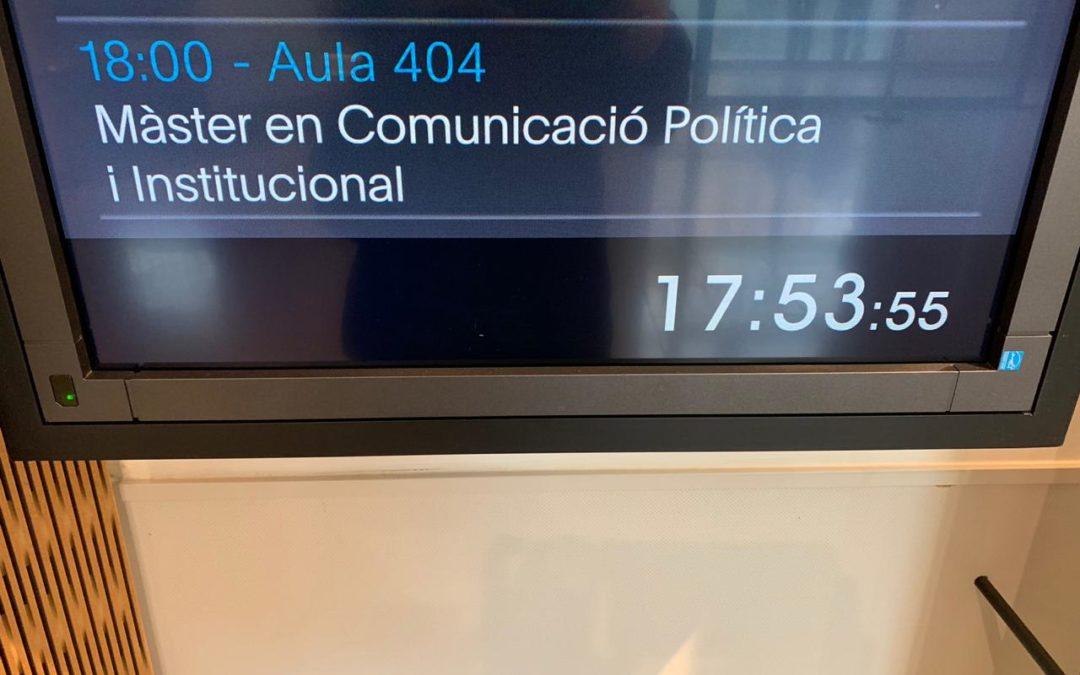 Clases en el Master de Comunicación Política, Univ. Pompeu Fabra, Barcelona