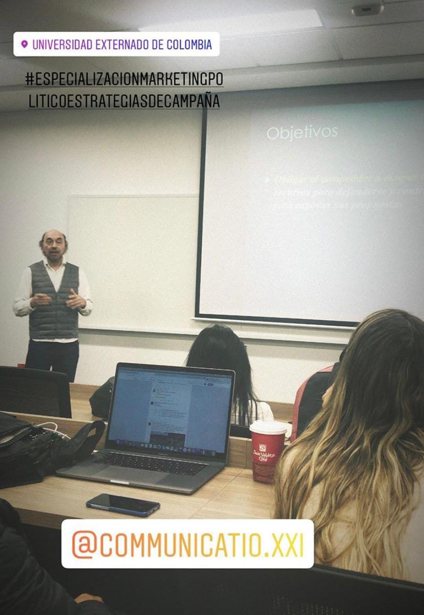 Especialización en Marketing Político y Estrategia de Campaña, Colombia9