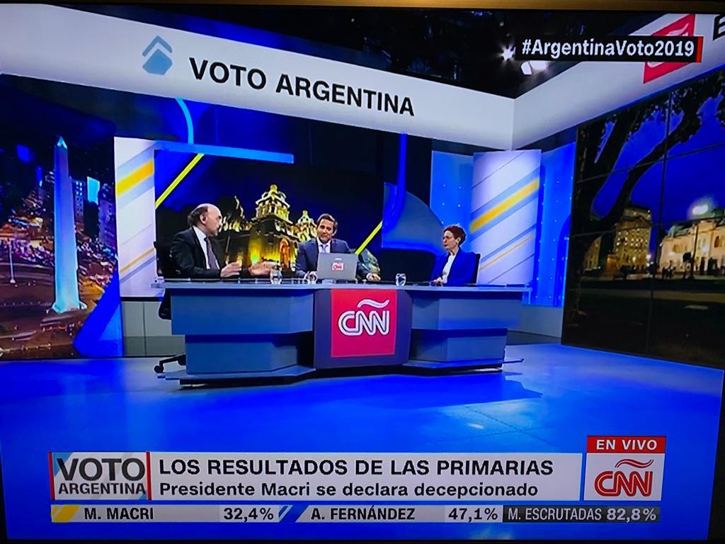 En piso de CNN, analizamos los resultados de las PASO Argentina 2019 (3)