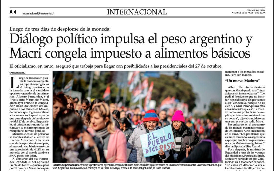 En El Mercurio, Chile, opinamos sobre las consecuencias de las PASO