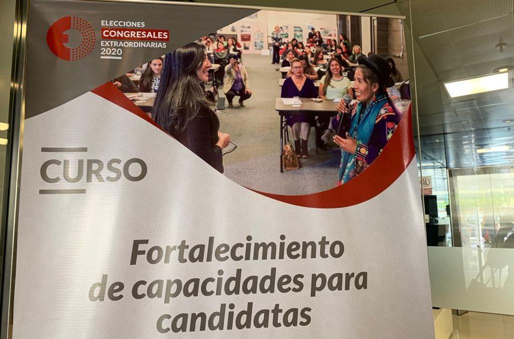 En campaña para las elecciones al Congreso Perú 2020