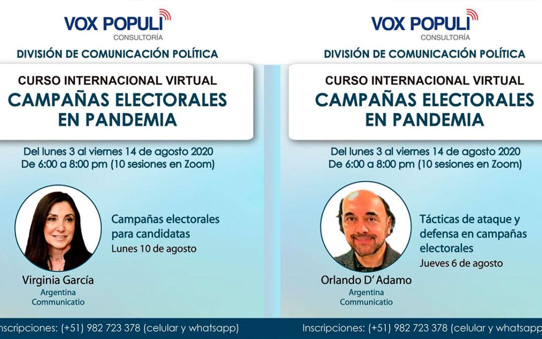 En Perú, curso sobre campañas electorales en pandemia