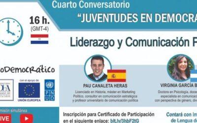 Cuarto conversatorio sobre «Juventudes en Democracia»