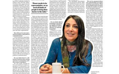 Entrevista a Virginia García Beaudoux en el Buenos Aires Time
