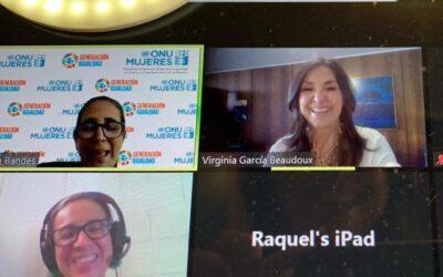 Diputadas en taller de comunicación con Virginia García Beaudoux