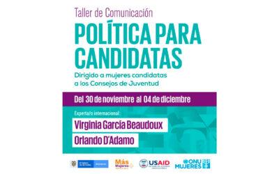 Taller de comunicación política para candidatas, en Colombia