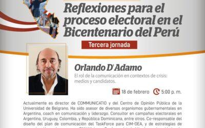 Orlando D'Adamo en el JNE de Perú