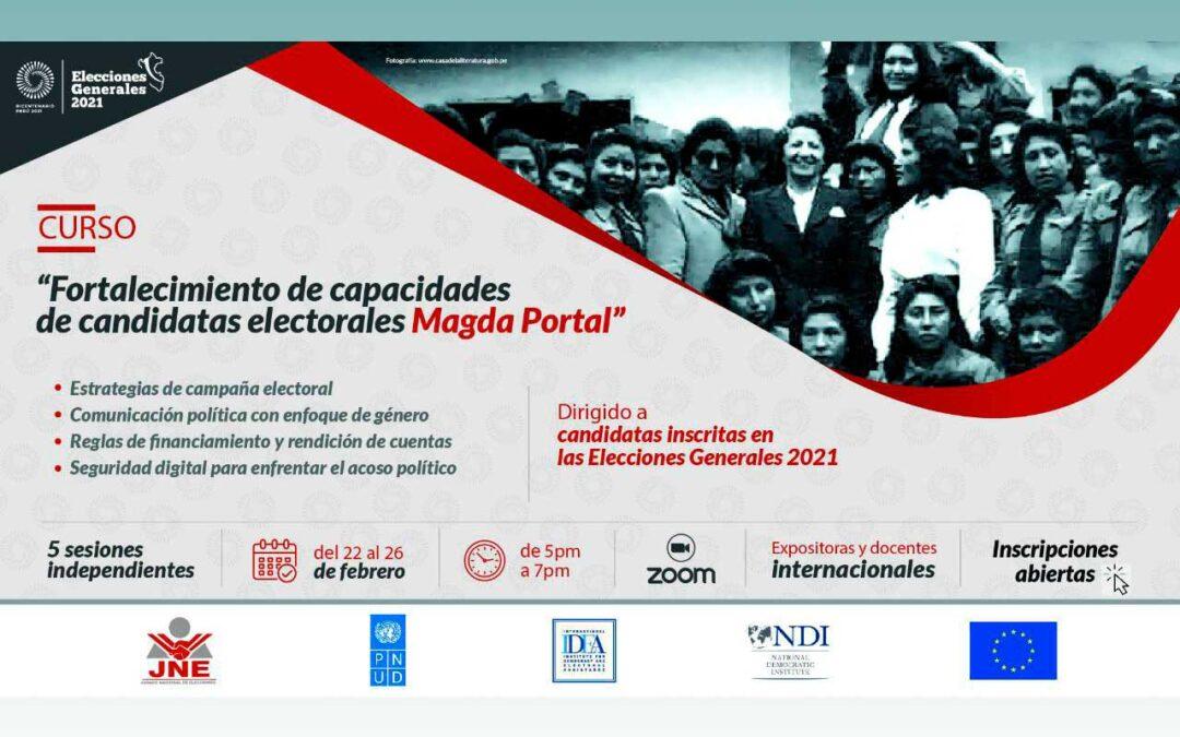 Trabajo con candidatas en Perú