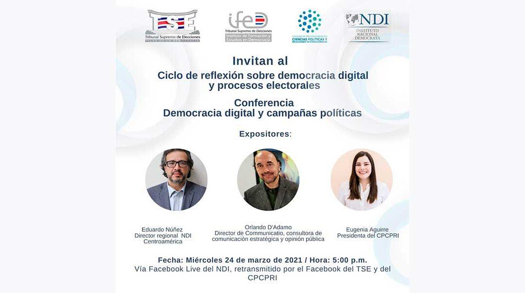 Orlando D'Adamo dialogó en Costa Rica sobre las campañas actuales