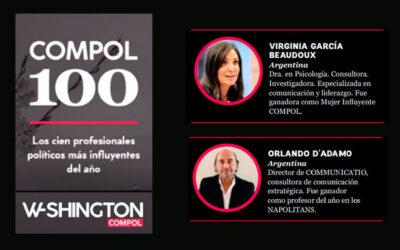 Por segundo año consecutivo, elegidos entre los 100 profesionales más influyentes de la comunicación política